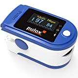 Pulsoximeter PULOX PO-200 Solo in Blau Fingerpulsoximeter für die Messung des Puls und der...