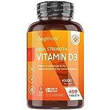 Vitamin D3 Tabletten 4000 IE - 400 Tabletten - 1 Tablette alle 4 Tage - Vegetarisch & Geprüfte Zutaten -...