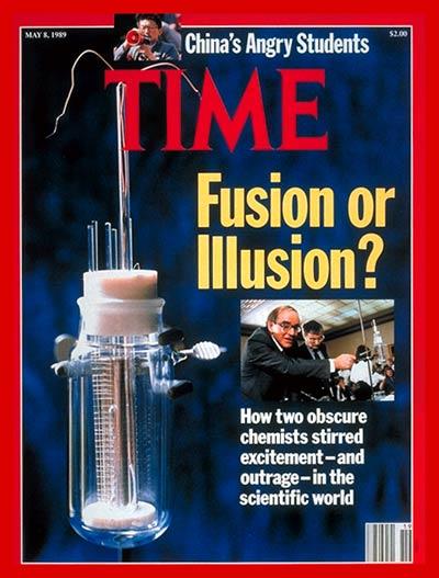 unbeschreibliche Aufregung in der Physiker-Gemeinde 1989 durch Pons/Fleischmann Experiment