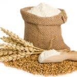 flour in small burlap sack