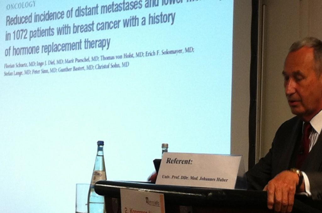 Prof. DDr. Johannes Huber beim AntiAging-Kongress in München 2012