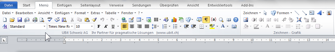 microsoft office menu