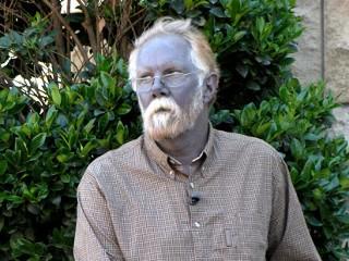 silber nano blauer mann